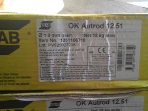 Сварочная проволока OK Autrod 12.51 1.0 мм, 18 кг