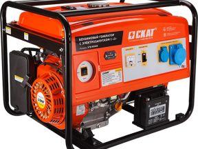 Мощный бензиновый Генератор Skat угб-6000Е