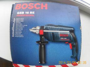 Новая дрель ударная Bosch -GSB16RE Профессионал