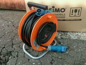 Удлинитель на катушке, кабель 2,5 квадрата