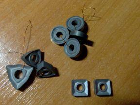 Пластины для токарных резцов, 9 шт