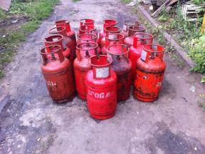 Газовые баллоны 4 штук (27 литров) 2 шт на 50 л