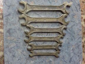 Ключ гаечный рожковый латунный