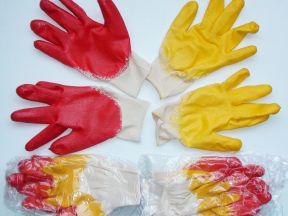 Перчатки трикотажные х/б с латексным покрытием