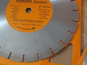 Алмазный диск по бетону 350 мм. Новый