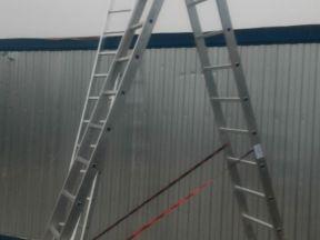 Лестница алюминиевая 3х13 и трансформер 4х4