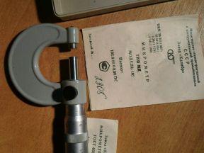 Микрометр 0-25 мм гост 6507-78