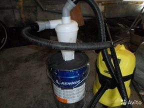 Циклон для Пылесоса SN50T3 +муфты+крепеж
