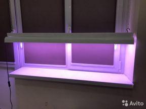 Светильник двойной люминесцентный с 2 лампами