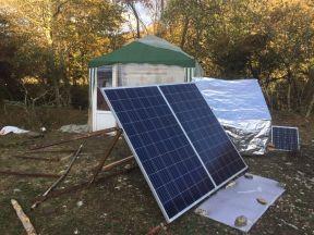 Солнечные батареи панели 250в. Инвертор 2кв. Аккум