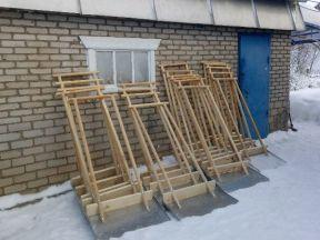 Лопата снеговая двуручная, скребок, движок