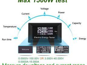 100 В 15A цифровой вольтметр постоянного тока