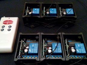 Универсальный 6-канальный пульт ду с 6 приёмниками