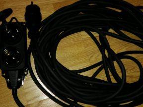 Силовой удлинитель 3x2.5 кг кабель 20 метров