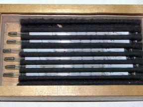 Термометры стеклянные ртутные лабораторные