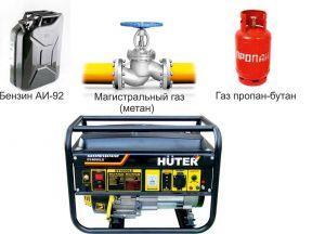 """Бензо-газовый генератор """"Huter"""" DY4000LG"""