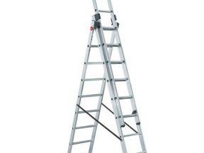Лестница алюминиевая трехсекционная sarayli