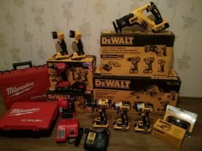 Новый аккумуляторный инструмент Dewalt и Milwaukee