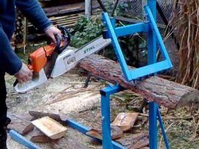 Козлы для распиловки дров складные