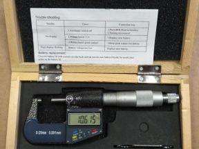 Микрометр цифровой 0-25мм 0,001мм