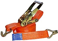 Стяжные ремни с натяжным устройством и крюками на