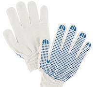 Перчатки хлопчатобумажные с пвх покрытием (точки)
