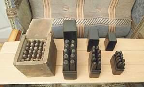 Набойники букв по металлу, сделано в СССР