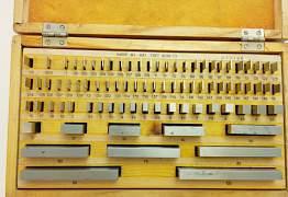 Набор мер (мерительные плитки) 83 шт пр-ва СССР