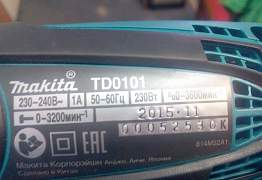 Сетевой ударный шуруповерт Makita TD0101.Новый