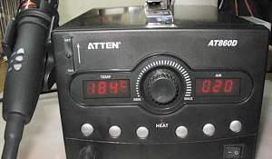 Термовоздушая паяльная станция atten AT860D